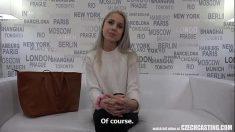 Czech Blonde Virgin Casting Porno