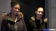 French Sluts Elodie and Safia Casting Porno